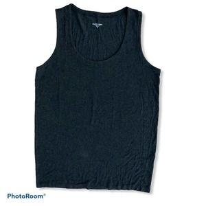 Eileen Fisher grey sleeveless scoop neck top M